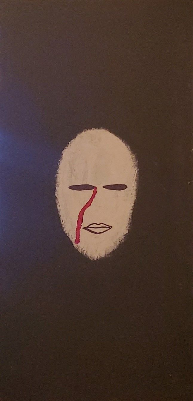 Sad 10 20 acrylic canvas Toilz  - toilz | ello