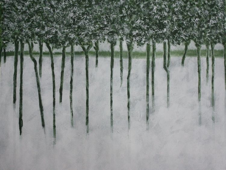 Morning Acrylic Gesso Oilpaper  - burningbuddha | ello
