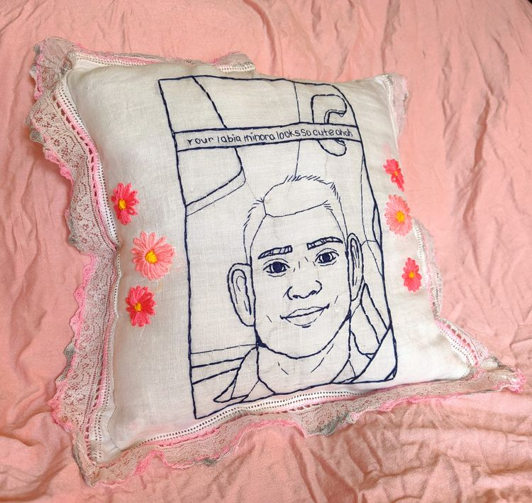 Labia Minora throw pillow viral - hyenabones | ello