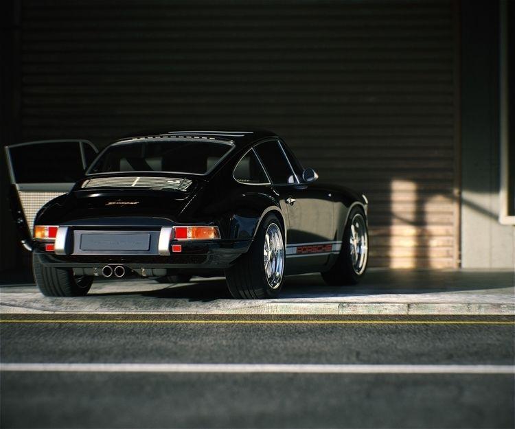 Porsche Garage Lookdev Image ph - martinsalex_studio   ello