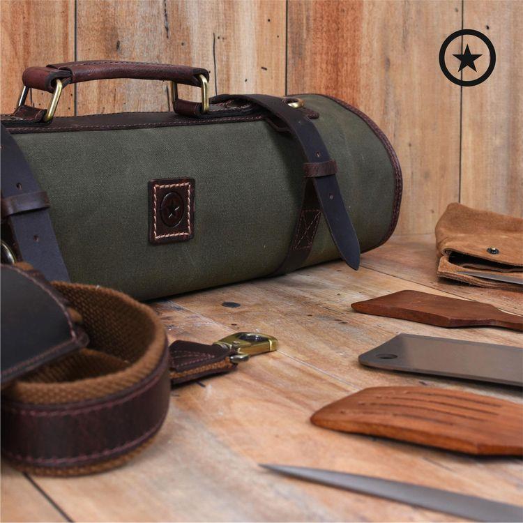 Canvas Knife Bags - Rolls waxed - aaronleathergoods | ello