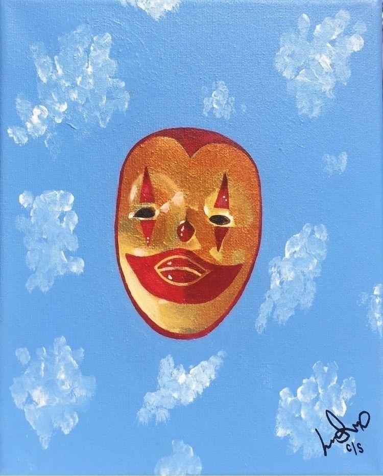 La Payasa Acrylic canvas 8x10 2 - lordlili | ello