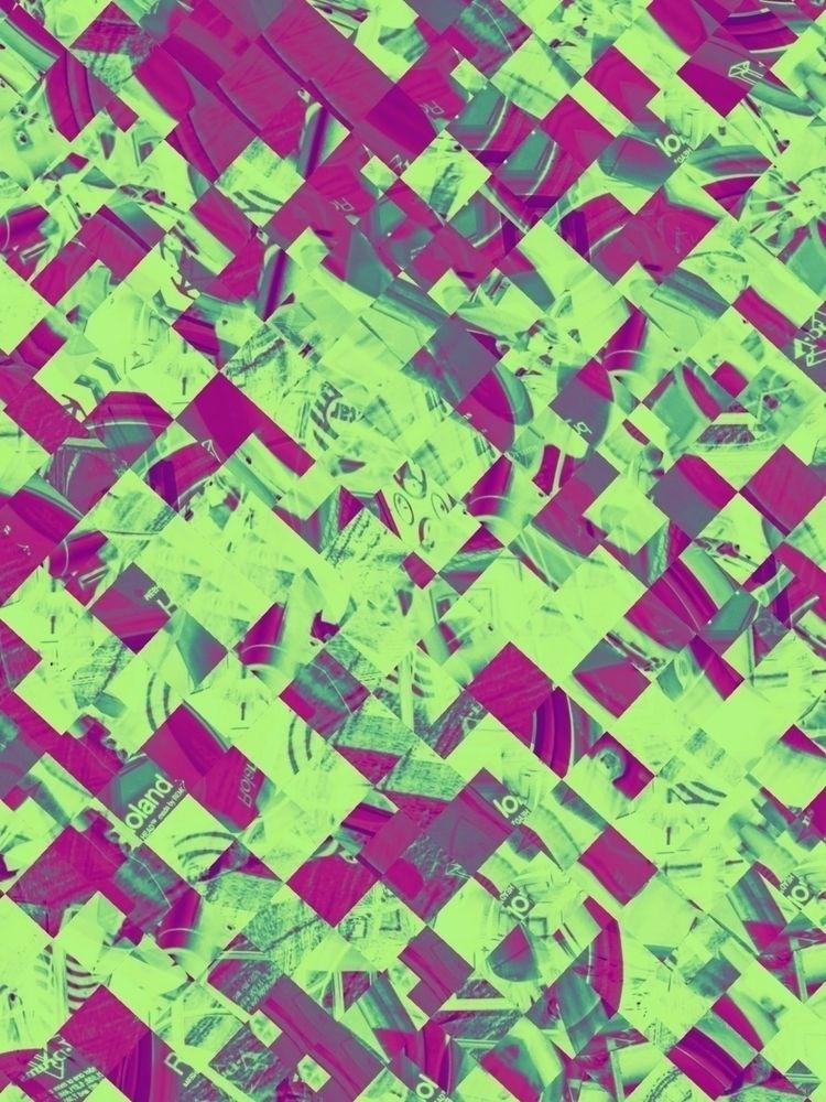 DRUMS!  - glitch, glitchart, art - brainhurt | ello