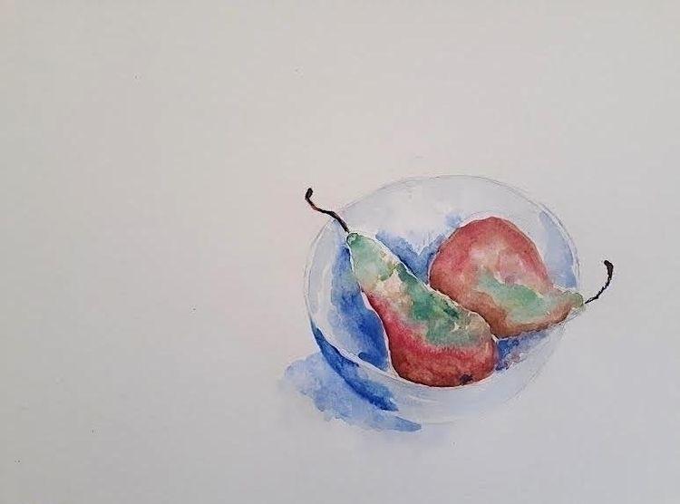 Pears Watercolour 30 40cm 2020  - burningbuddha | ello