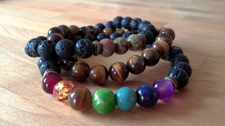 Genuine 7 Chakra Bracelet Men  - mindfulessences | ello
