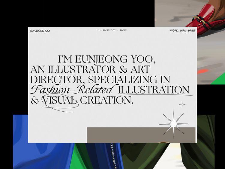finished publishing web design - eunjeongyoo | ello