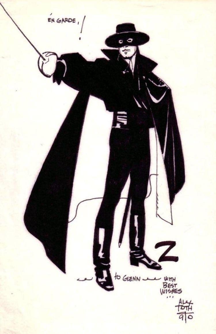 Alex Toth Zorro, 1990 - markstaffbrandl55 | ello