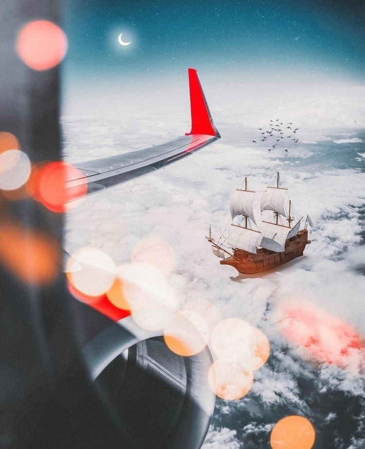 Sky ocean!  - photoshop, art, design - nick_asphodel | ello