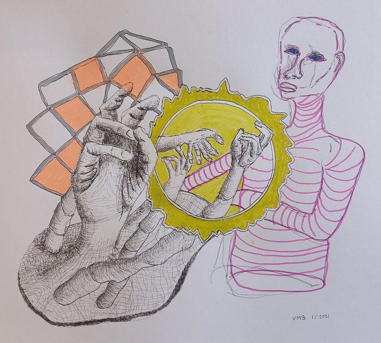 'Gestures poem' Mixed media pap - vincent_bakker | ello