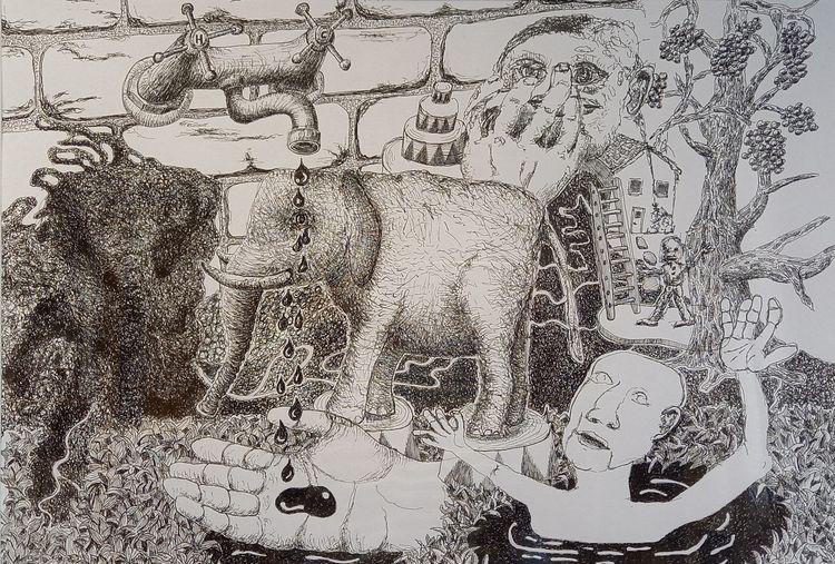 Black white drawings! Ink paper - vincent_bakker | ello