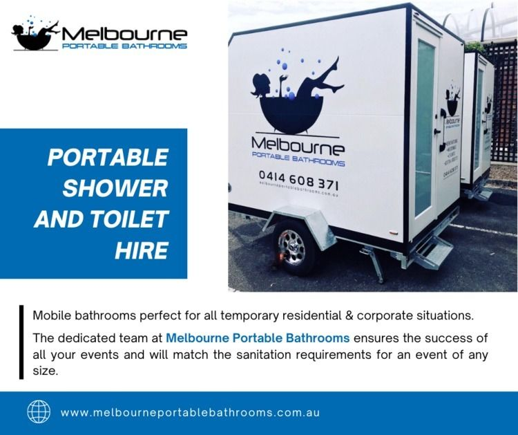 Portable Shower Toilet Hire Mel - melbourneportablebathrooms | ello
