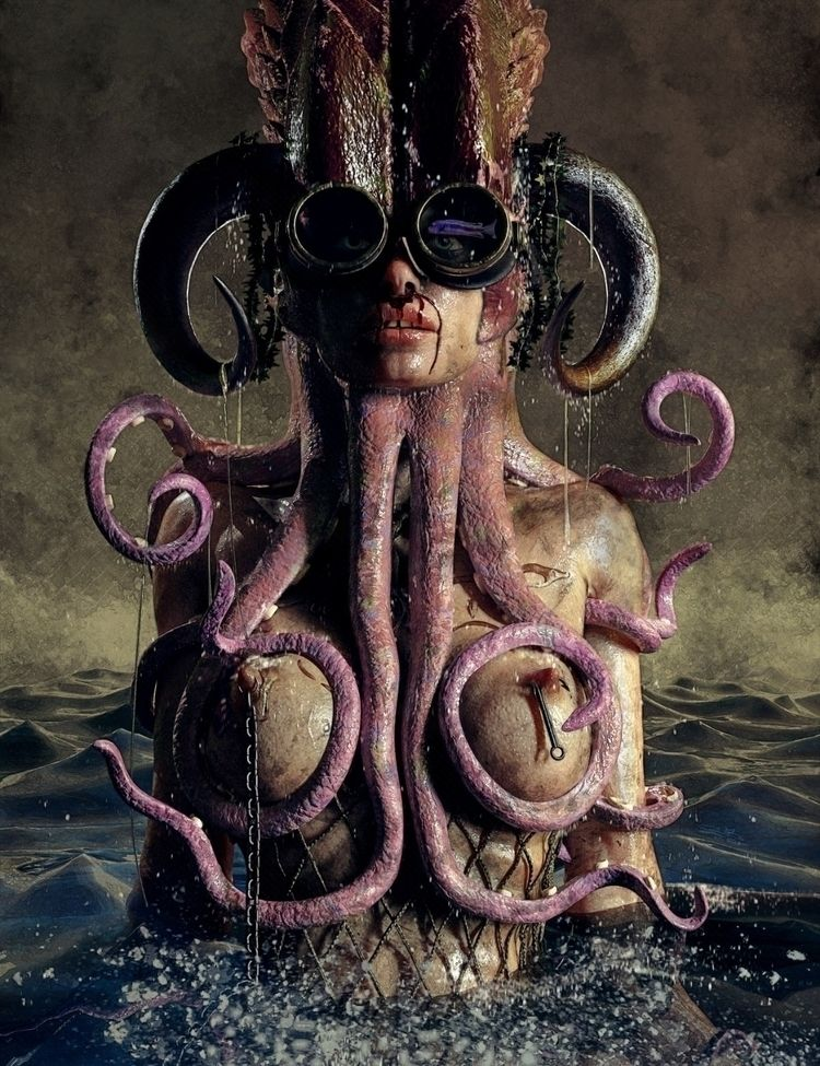 Octopussy - 3dpaint, digitalart - dreadfulbitches | ello