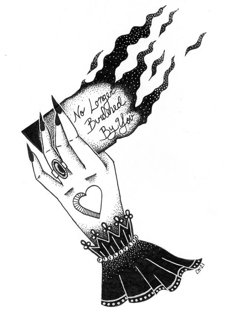 longer burdened hand-drawn/pain - colleensmorgan | ello