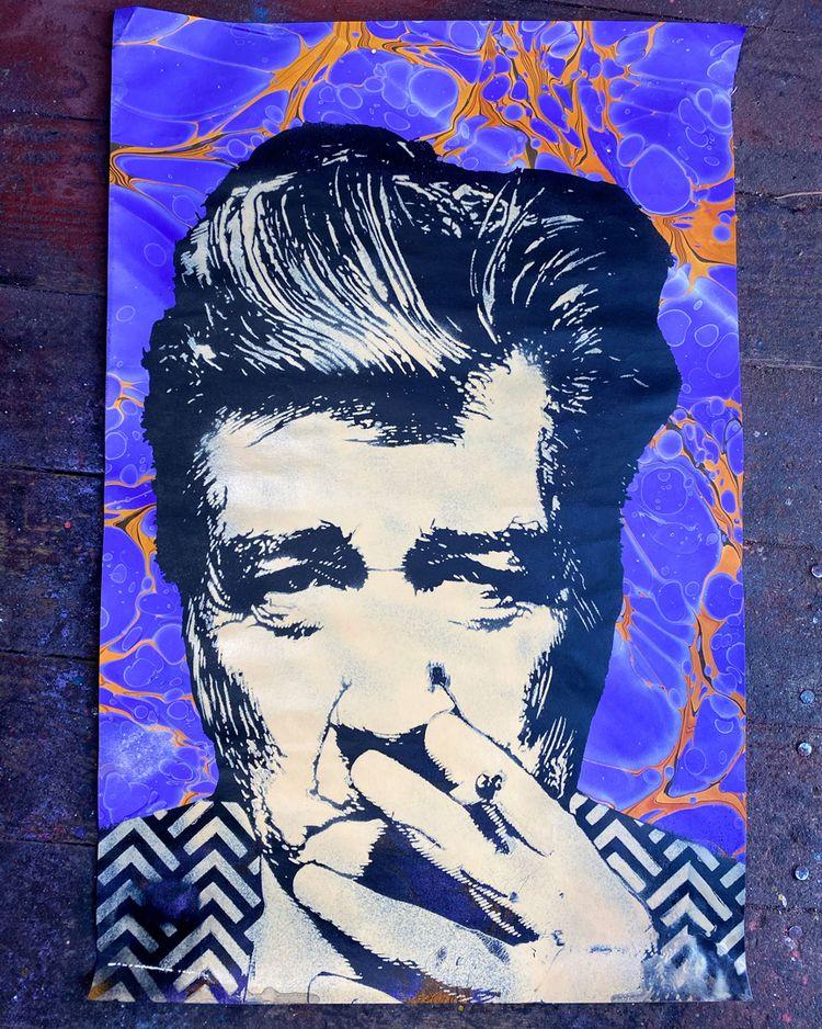 test spray David Lynch stencil  - voxxromana | ello