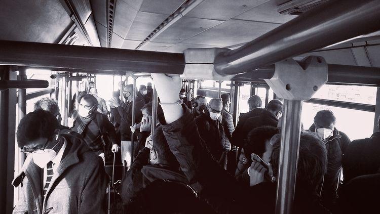 passengers - airport, bus, blackandwithe - rastaman0   ello