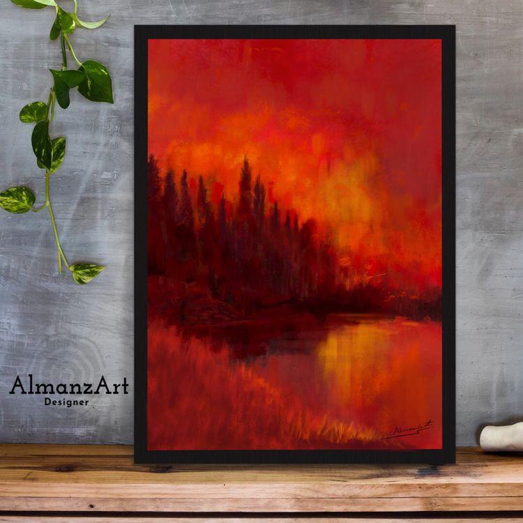 Red Sunset prints store - almanzart   ello