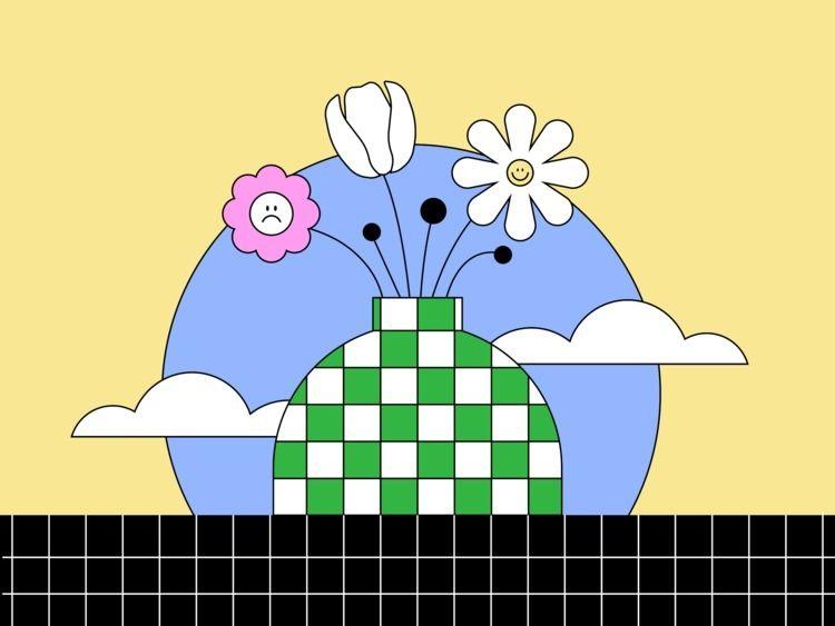 flowers moody outline - moody,, flowers, - operil | ello