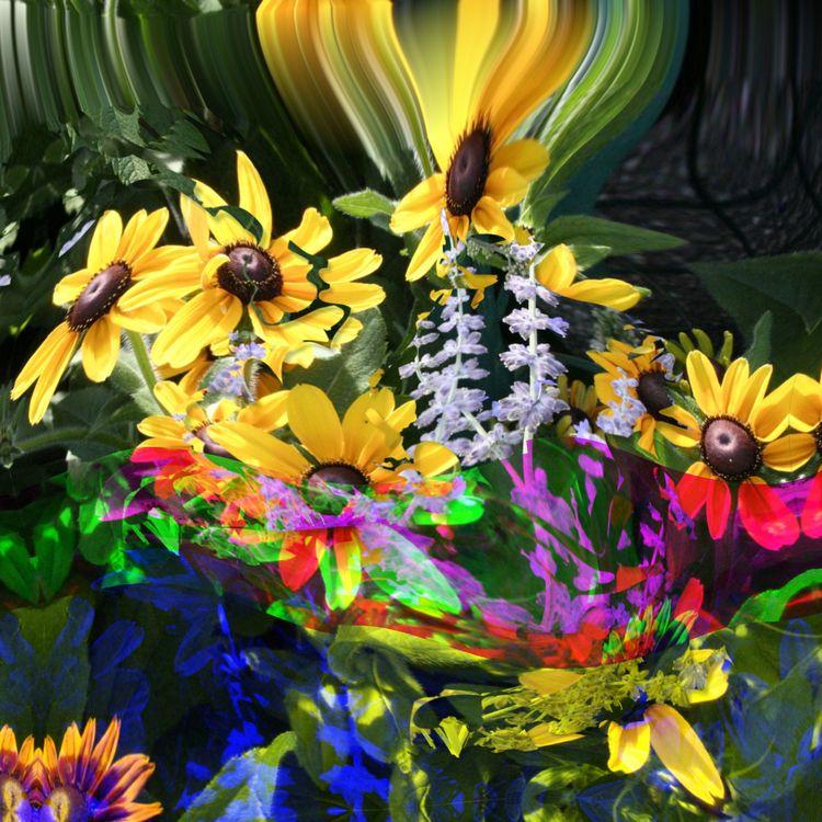 paint happy flowers - photoremix - paulsmedberg | ello