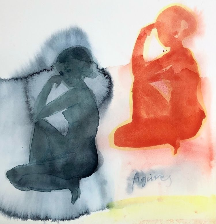 Figures - watercolor, paper, paynesgrey - vasagatan | ello