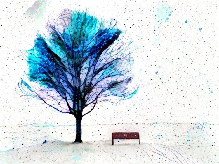Snowy day park Rocky River Park - kenlong   ello