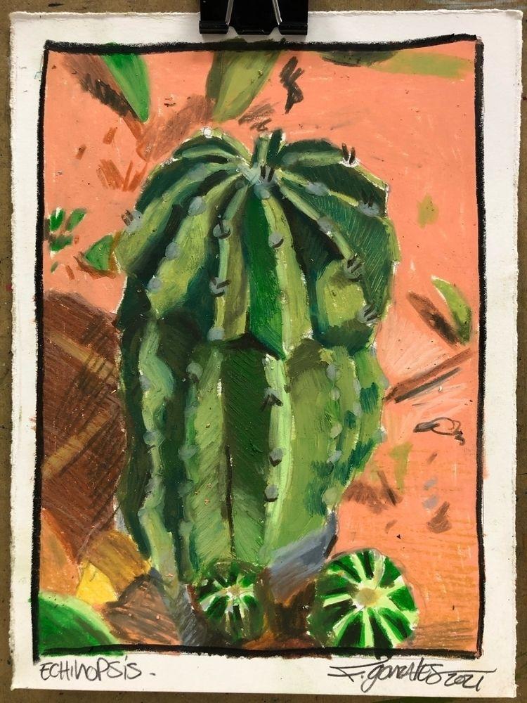 Echinopsis Water Soluble crayon - gonzalesfrank   ello