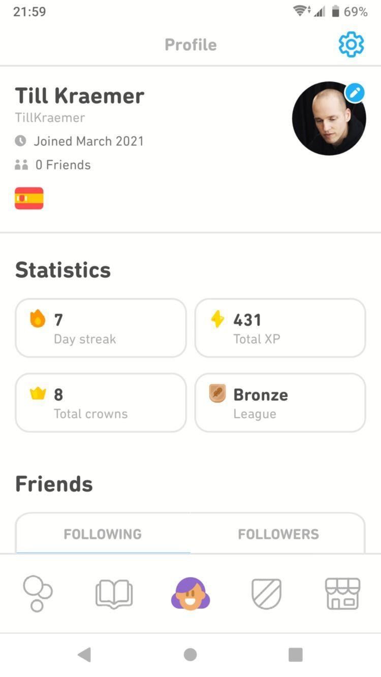 learning Spanish Duolingo. Bron - tillkraemergaming | ello