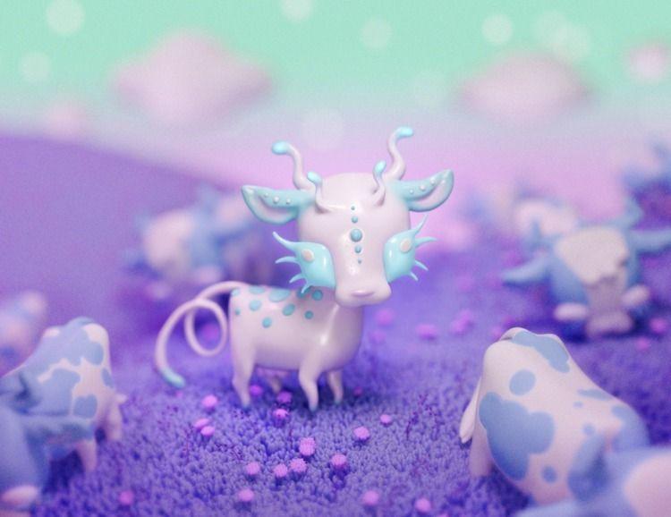 Weird cow - 3dart, blender, zbrush - sashakatcher | ello