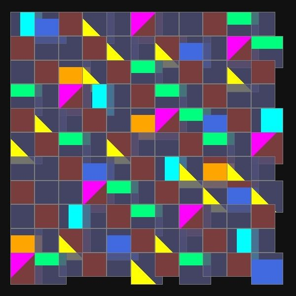 CSS grid shape assignments - generative_art - reeserc   ello
