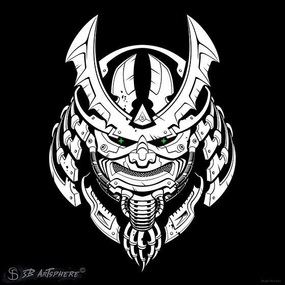 Cyber Samurai mask. Combination - sergeybiryukovart | ello