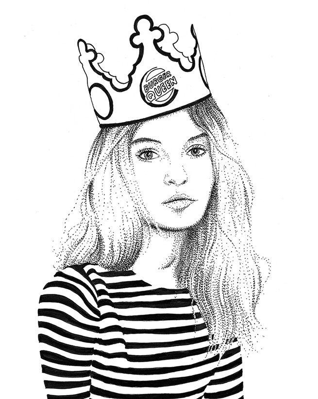 Burger Queen - burgerqueen, illustration - herre84 | ello