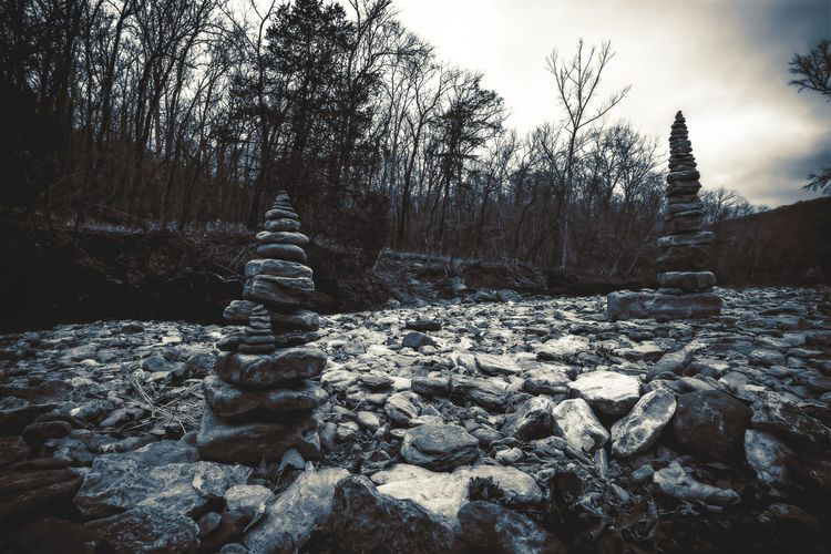 Cairns Stacked rocks spotted dr - 75centralphotography | ello