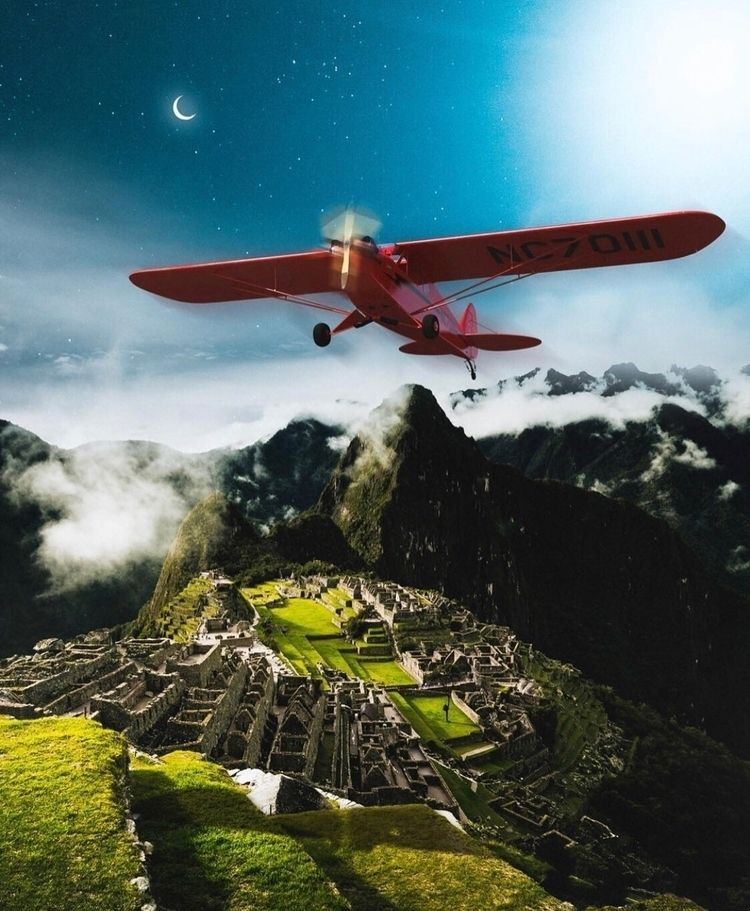 :airplane:️ Peru!  - photoshop, art - nick_asphodel | ello