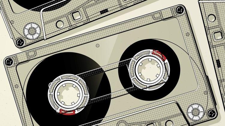 Tape - illustration, tape, cassette - mario-maxter   ello