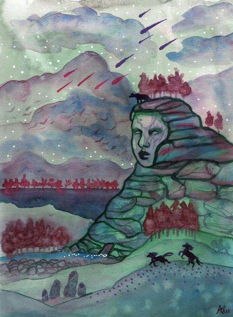 mountain speaks 2021 - illustration - aotar-le-quaint | ello