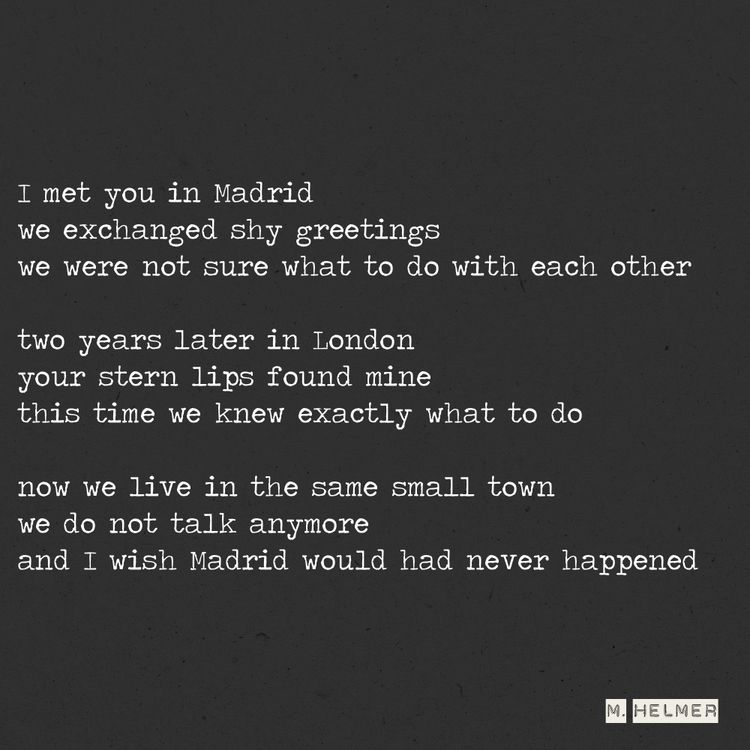 Oui, je regrette tout. 12/2021 - helmer_poetry | ello