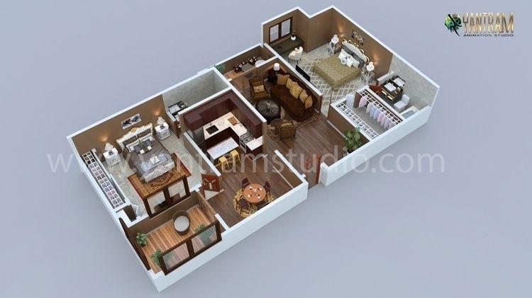 Modern Residential 3d floor pla - yantramstudio | ello