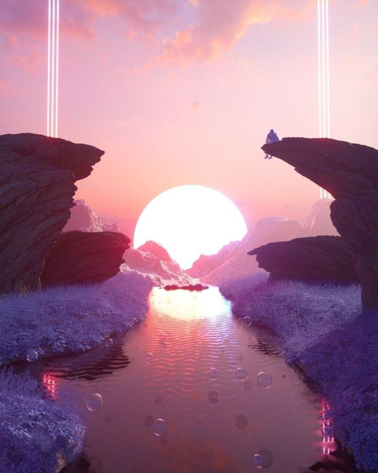 World - 3d, cinema4d, render, dailyrender - delanoklee | ello