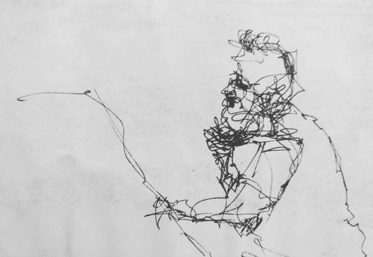 Fisherman  - drawing, ink, sketch - travisweaverart   ello