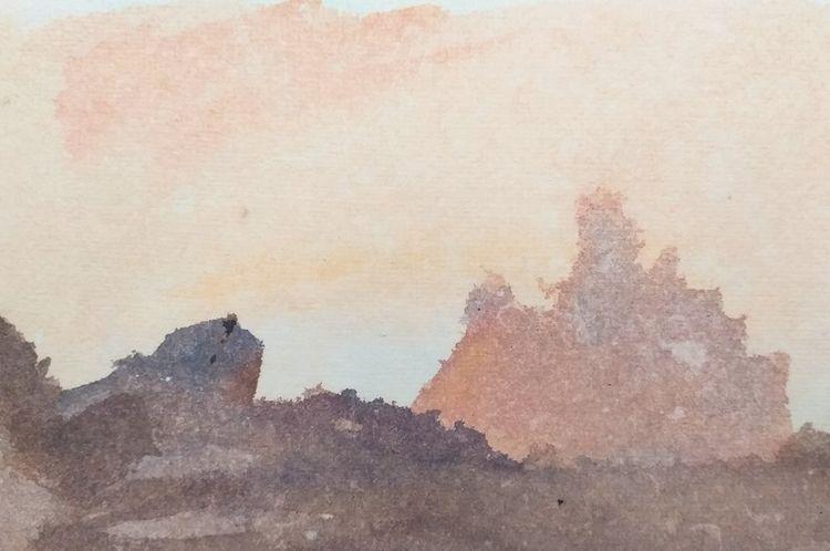 Sunset Cliffs  - watercolor, watercolourist - travisweaverart | ello
