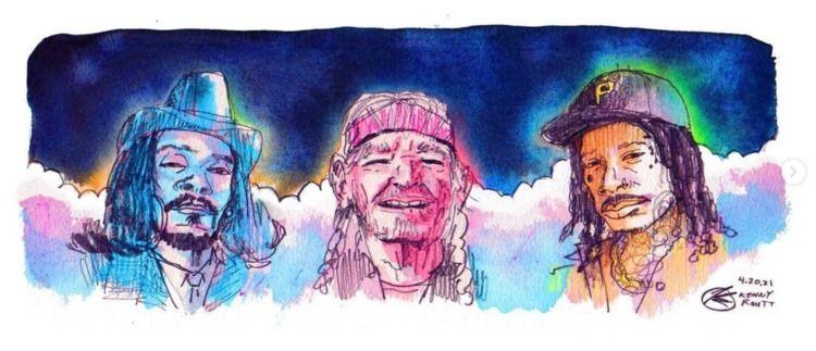 Stoner icons 4/20 Snoop, Willie - kennyroutt | ello