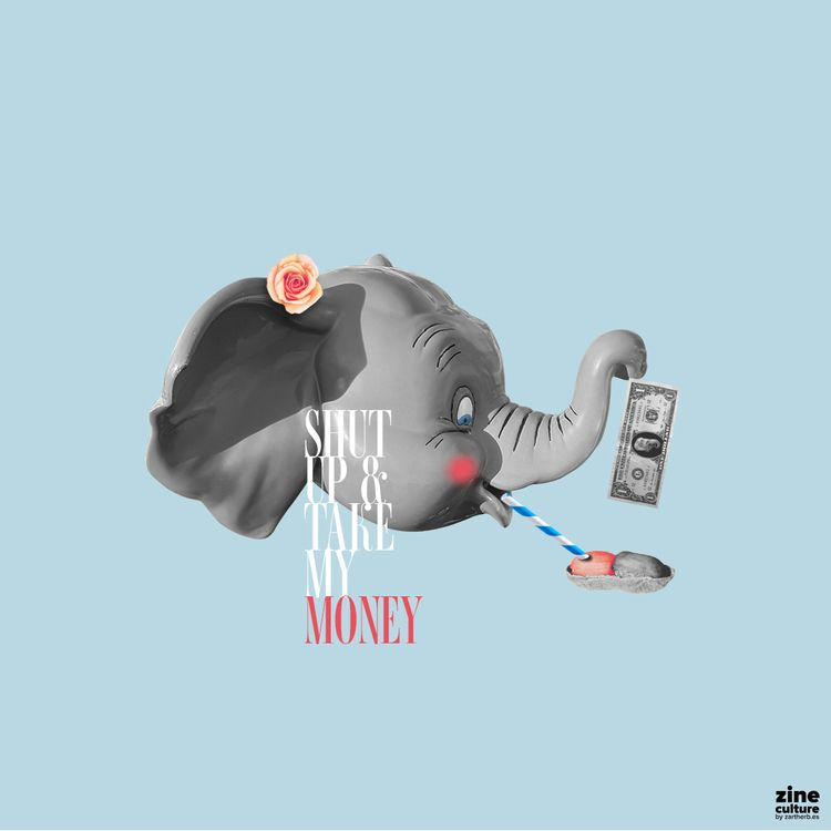 Shut money - disney, dumbo, elephant - zartherbes | ello