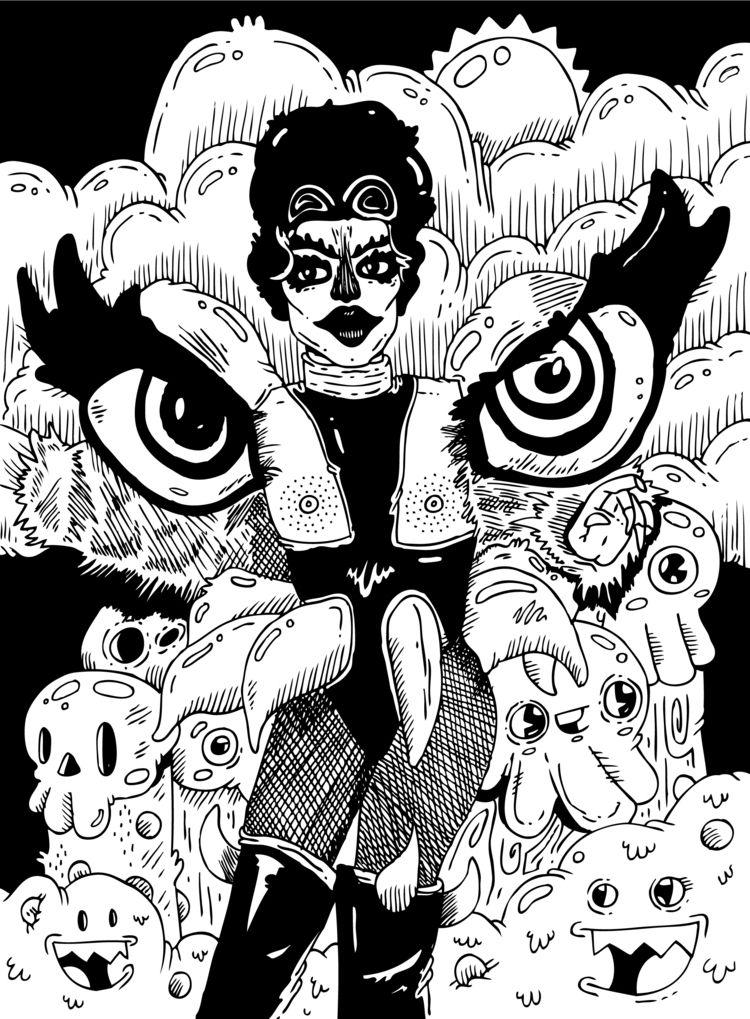 Gottmik - illustration, RPDR, LGBTQ - warholbot | ello