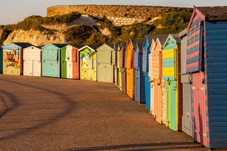 Beach huts St Mildreds Bay, ken - alan01   ello
