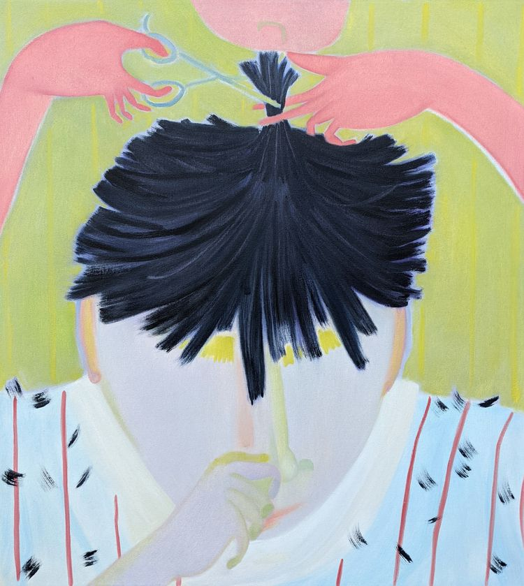 Lowering Ears oil/canvas, 40x36 - markbarry | ello
