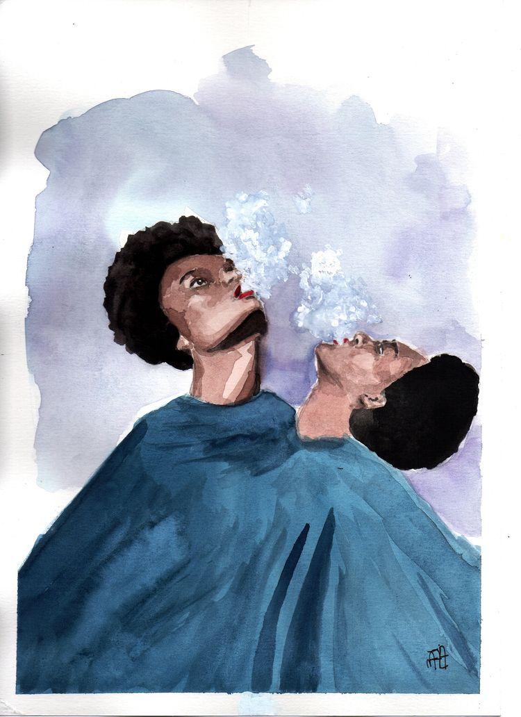 illustration, watercolor, watercolour - nataliadamiao | ello