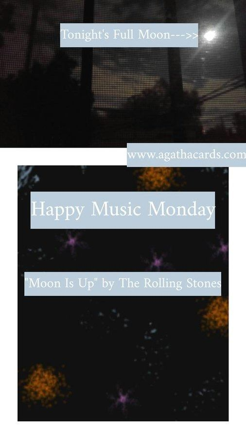 happy MONDAY!! day full Moon? p - agathacards | ello