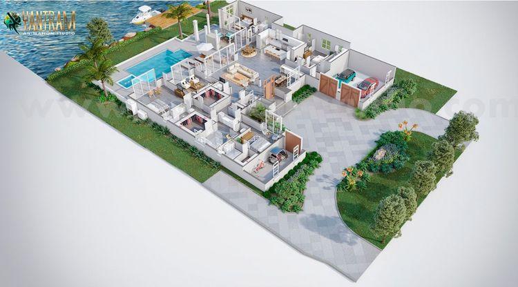 3D Virtual Floor Plan design be - yantramstudio | ello