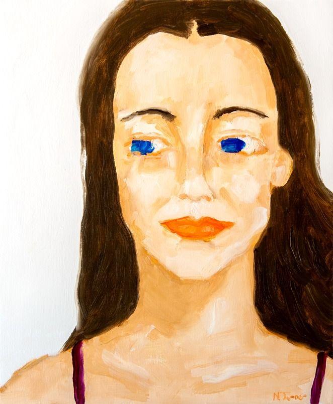 Nina - oil canvas, 18 15 - nealturner | ello