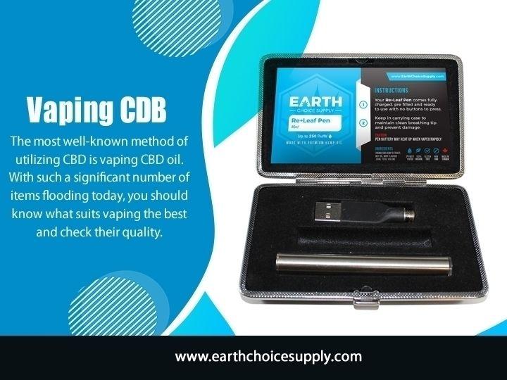 Vaping CDB CBD customize dosing - earthchoicesupply   ello