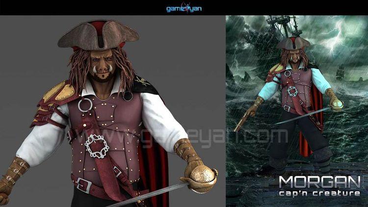 3D Morgan Creature Character Mo - gameyan   ello